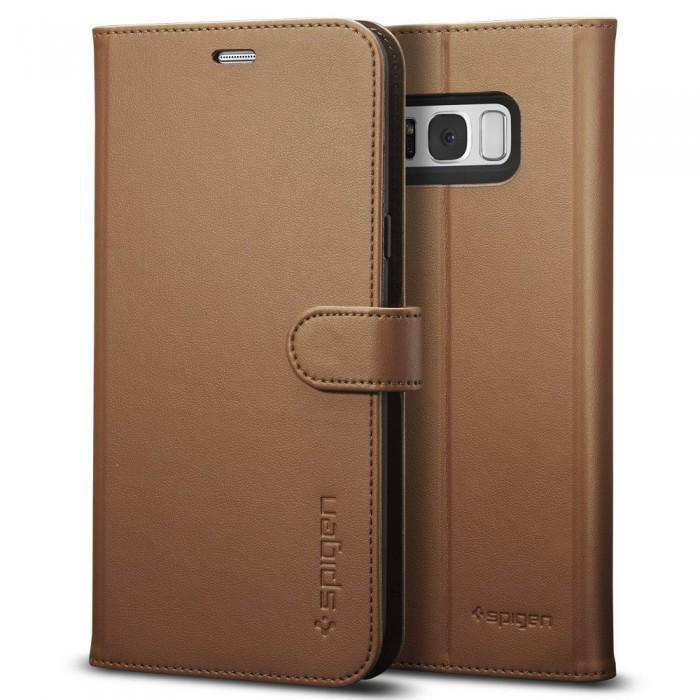Чехол-книжка Spigen Wallet S для Samsung Galaxy S8 коричневый (SGP 565CS21636)для Samsung<br>Чехол-книжка Spigen Wallet S для Samsung Galaxy S8 коричневый (SGP 565CS21636)<br>