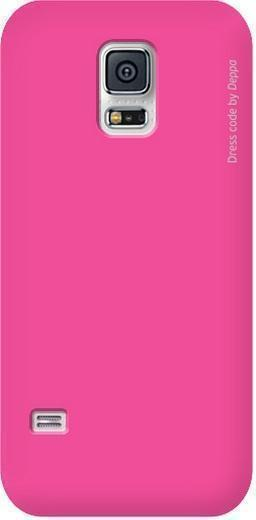 Чехол-накладка Deppa Air Case для Samsung Galaxy S5 (SM-G900) пластик розовый + защитная пленкадля Samsung<br>Чехол-накладка Deppa Air Case для Samsung Galaxy S5 (SM-G900) пластик розовый + защитная пленка<br>