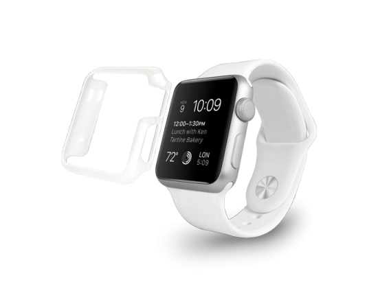 Чехол-накладка Ozaki O!coat Crystal для Apple Watch 38mm / Watch Sport 38mm OC627TR прозрачный