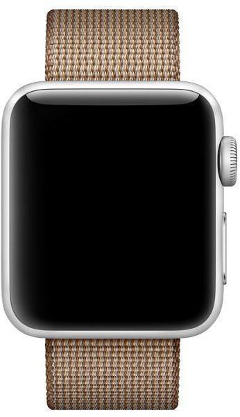 Ремешок Apple для Watch 42mm Woven Nylon (Toasted Coffee/Caramel) MNKE2ZM/AРемешки и браслеты для умных часов Apple<br>Ремешок Apple для Watch 42mm Woven Nylon (Toasted Coffee/Caramel) MNKE2ZM/A<br>