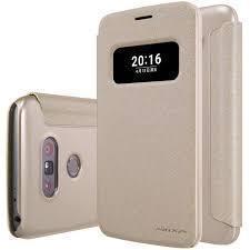 Чехол-книжка Nillkin Sparkle Series для LG G5 / G5 SE (H845/H850/H860N) пластик-полиуретан (золотой)