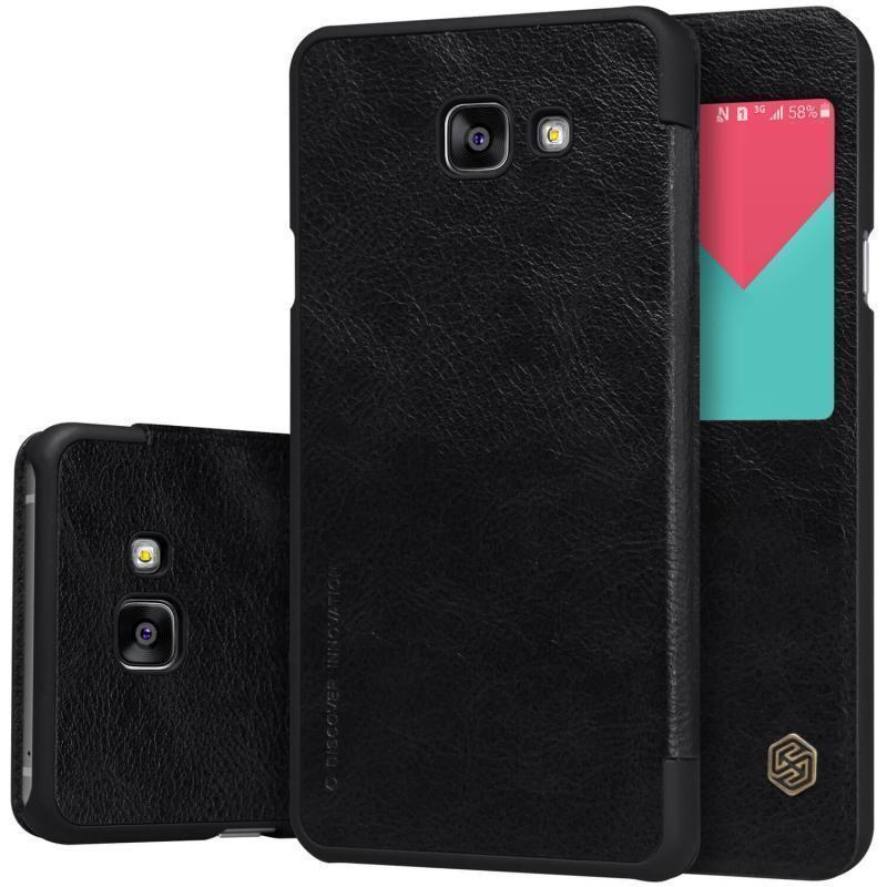 Чехол-книжка Nillkin QIN Leather Case для Samsung Galaxy A5 (2016) SM-A510 натуральная кожа черныйдля Samsung<br>Чехол-книжка Nillkin QIN Leather Case для Samsung Galaxy A5 (2016) SM-A510 натуральная кожа черный<br>