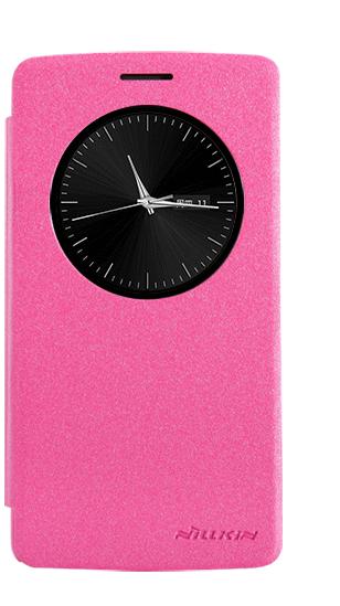 Чехол-книжка Nillkin Sparkle Series для LG G3 Beat/G3s (722/724) пластик-полиуретан (розовый)для LG<br>Чехол-книжка Nillkin Sparkle Series для LG G3 Beat/G3s (722/724) пластик-полиуретан (розовый)<br>