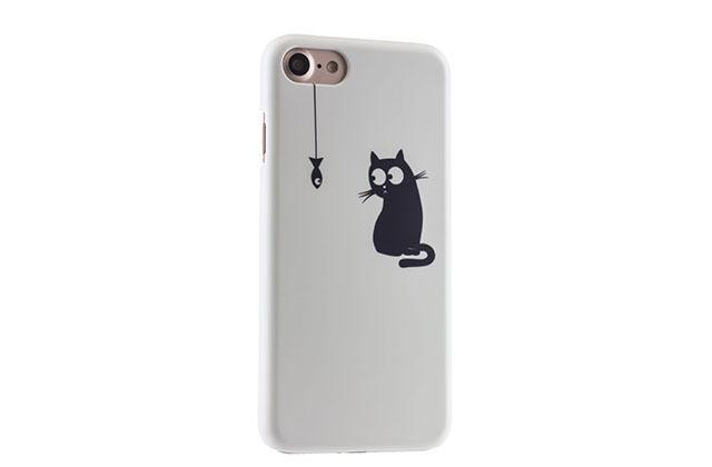 Чехол-накладка iCover Cats Silhouette для Apple iPhone 7/8 белый (Style 11) (IP7R-DEM-SL)для iPhone 7/8<br>Чехол-накладка iCover Cats Silhouette для Apple iPhone 7/8 белый (Style 11) (IP7R-DEM-SL)<br>