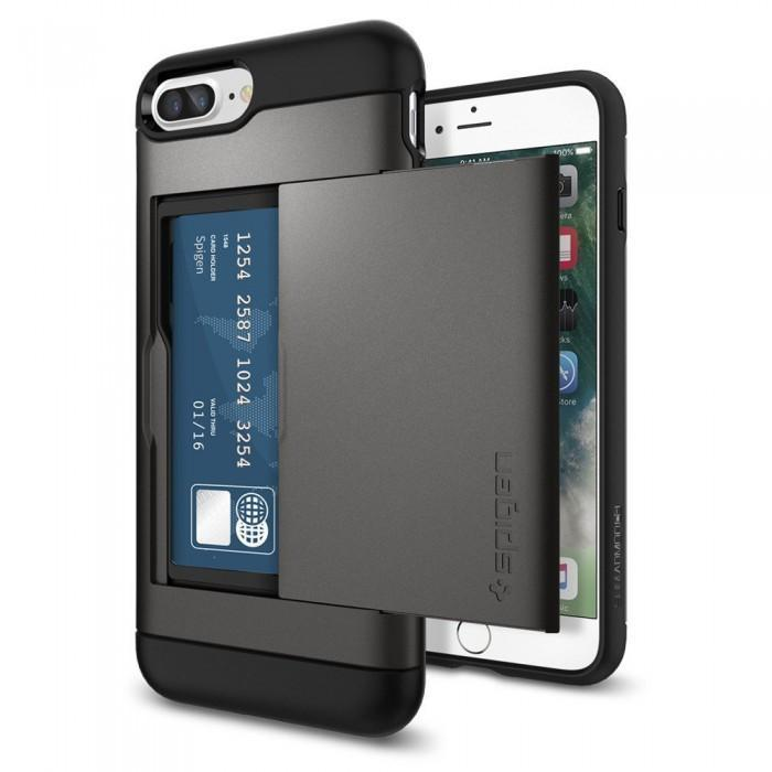 Чехол-накладка Spigen Slim Armor CS для Apple iPhone 7 Plus/8 Plus Темно-серый (SGP 043CS20526)для iPhone 7 Plus/8 Plus<br>Чехол-накладка Spigen Slim Armor CS для Apple iPhone 7 Plus/8 Plus Темно-серый (SGP 043CS20526)<br>