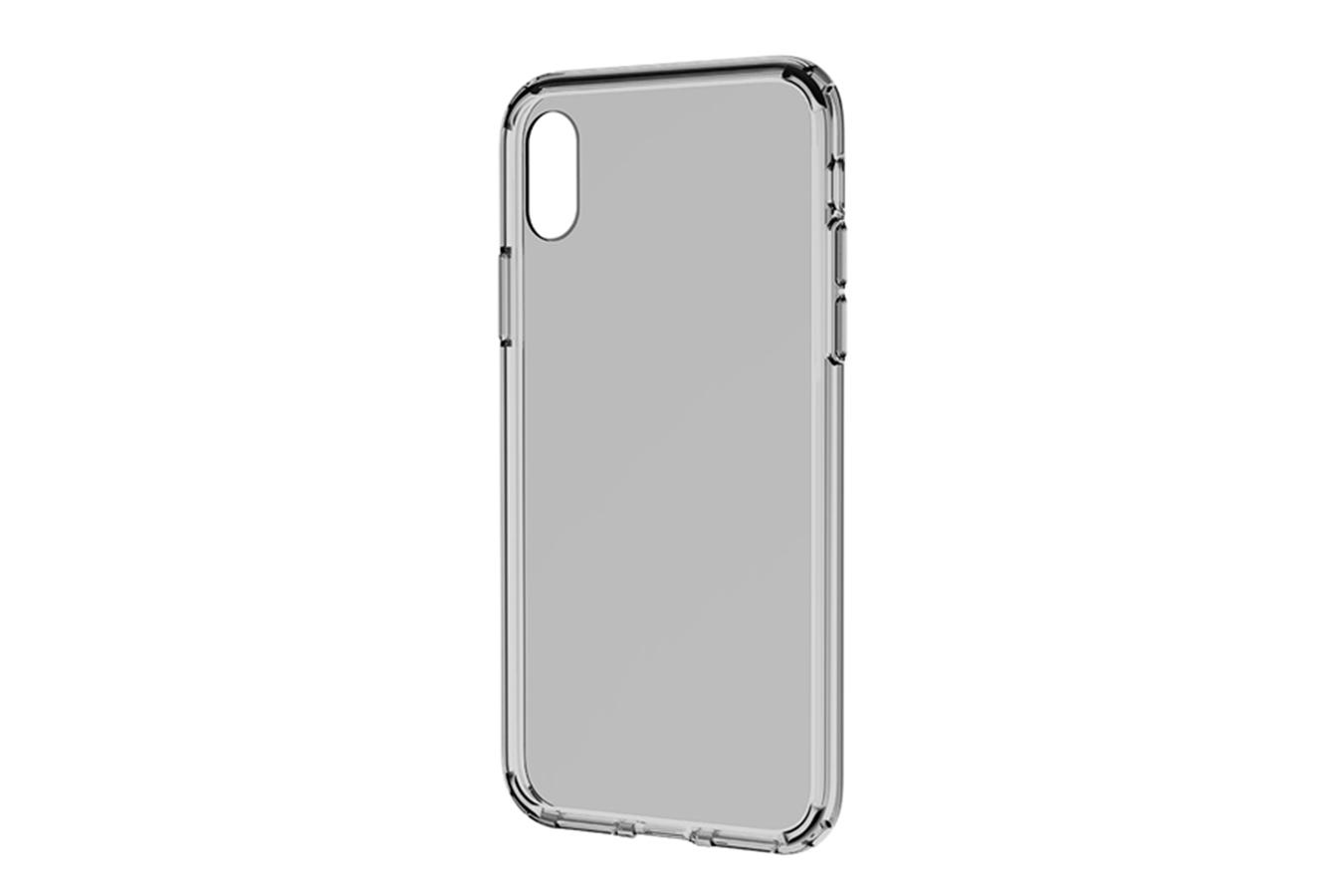 Купить Чехол-накладка ультратонкий 0.3mm для Apple iPhone XS Max силиконовый прозрачно-черный