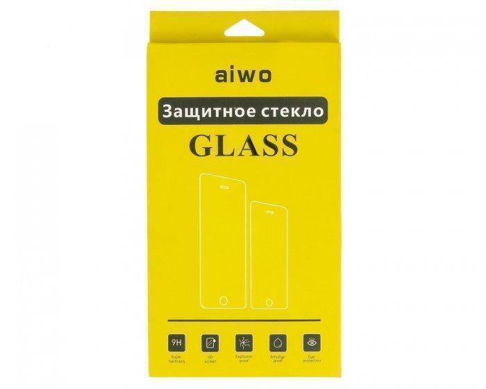 Защитное стекло AIWO (Full) 9H 0.33mm для Apple iPhone 7/8 антибликовое цветное черное
