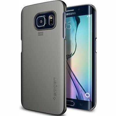 Чехол-накладка Spigen SGP11570 Thin Fit для Samsung Galaxy S6 Edge Gunmetalдля Samsung<br>Чехол-накладка Spigen SGP11570 Thin Fit для Samsung Galaxy S6 Edge Gunmetal<br>