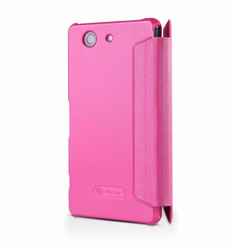 Чехол-книжка Nillkin Sparkle Series для Sony Xperia Z3 Compact пластик-полиуретан (розовый)
