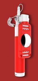 Монопод для смартфона Devia 360 Degree Rotation Selfie Stick (Drive-By-Wire) красный