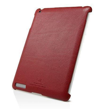 Чехол-накладка SGP Griff Dante SGP07700 для Apple iPad 2/3/4 натуральная кожа красный