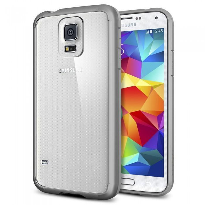 Чехол-накладка Spigen SGP10743 Ultra Hybrid для Samsung Galaxy S5 Grayдля Samsung<br>Чехол-накладка Spigen SGP10743 Ultra Hybrid для Samsung Galaxy S5 Gray<br>