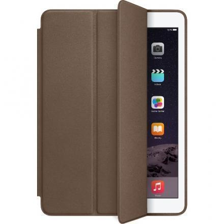Чехол-книжка Apple Smart Case для Apple iPad Air 2 (натуральная кожа с подставкой) Olive Brown