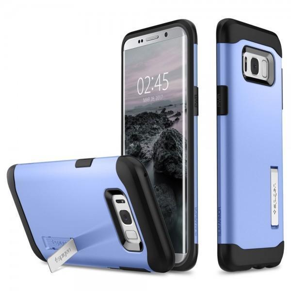Чехол-накладка Spigen Slim Armor для Samsung Galaxy S8+ голубой (SGP 571CS21125)для Samsung<br>Чехол-накладка Spigen Slim Armor для Samsung Galaxy S8+ голубой (SGP 571CS21125)<br>