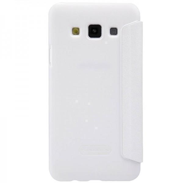 Чехол-книжка Nillkin Sparkle Series для Samsung Galaxy E5 SM-E500 пластик-полиуретан белый