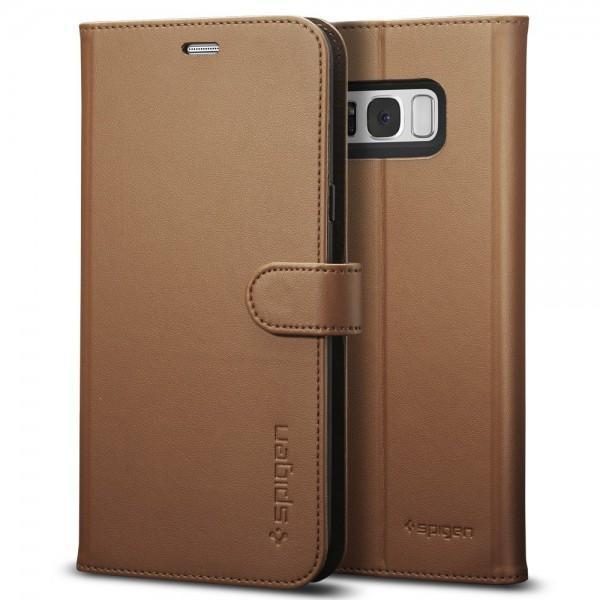 Чехол-книжка Spigen Wallet S для Samsung Galaxy S8+ коричневый (SGP 571CS21688)для Samsung<br>Чехол-книжка Spigen Wallet S для Samsung Galaxy S8+ коричневый (SGP 571CS21688)<br>