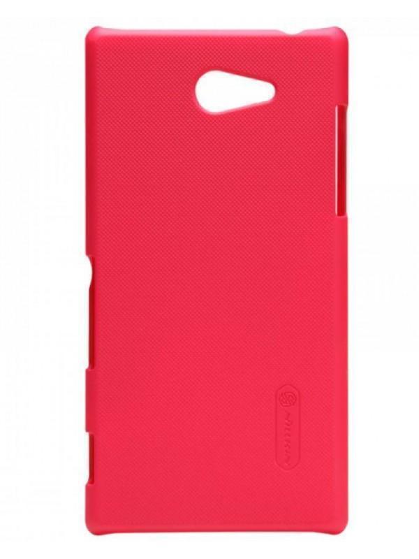 Чехол-накладка Nillkin Frosted Shield для Sony Xperia M2 / M2 Dual / M2 Aqua пластиковый красныйдля Sony<br>Чехол-накладка Nillkin Frosted Shield для Sony Xperia M2 / M2 Dual / M2 Aqua пластиковый красный<br>