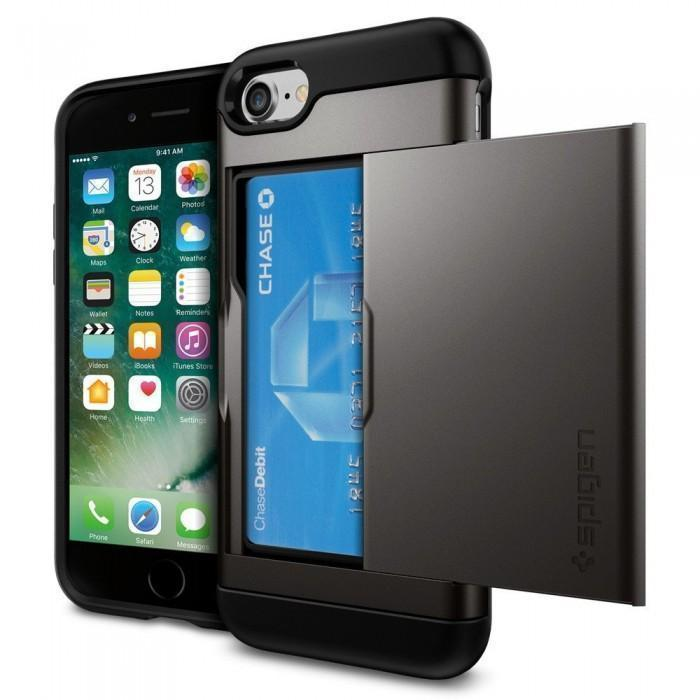 Чехол-накладка Spigen Slim Armor CS для Apple iPhone 7/8 пластик/силикон Gunmetal (SGP 042CS20453)для iPhone 7/8<br>Чехол-накладка Spigen Slim Armor CS для Apple iPhone 7/8 пластик/силикон Gunmetal (SGP 042CS20453)<br>