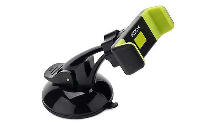 """Держатель автомобильный Rock Basic Windshield на стекло или торпеду для телефона 4""""-6""""дюймов зеленый"""