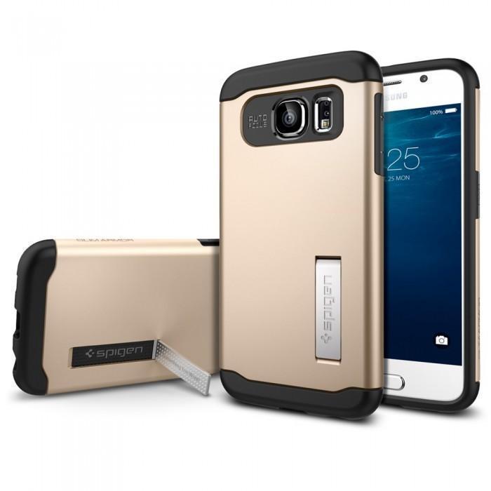 Купить Чехол-накладка Spigen SGP11329 Slim Armor для Samsung Galaxy S6 (Champagne Gold)