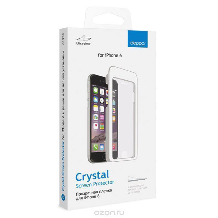 Защитная пленка Deppa (61414) для Apple iPhone 6/6S на всю поверхность экранадля iPhone 6/6S<br>Защитная пленка Deppa (61414) для Apple iPhone 6/6S на всю поверхность экрана<br>