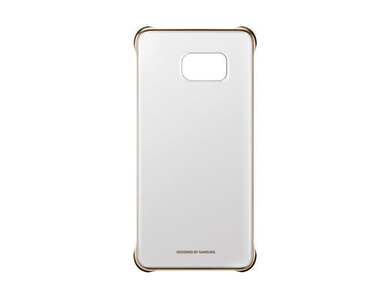 Чехол-накладка Samsung Clear Cover для Galaxy S6 Edge Plus пластик золотой (EF-QG928CFEGRU)для Samsung<br>Чехол-накладка Samsung Clear Cover для Galaxy S6 Edge Plus пластик золотой (EF-QG928CFEGRU)<br>