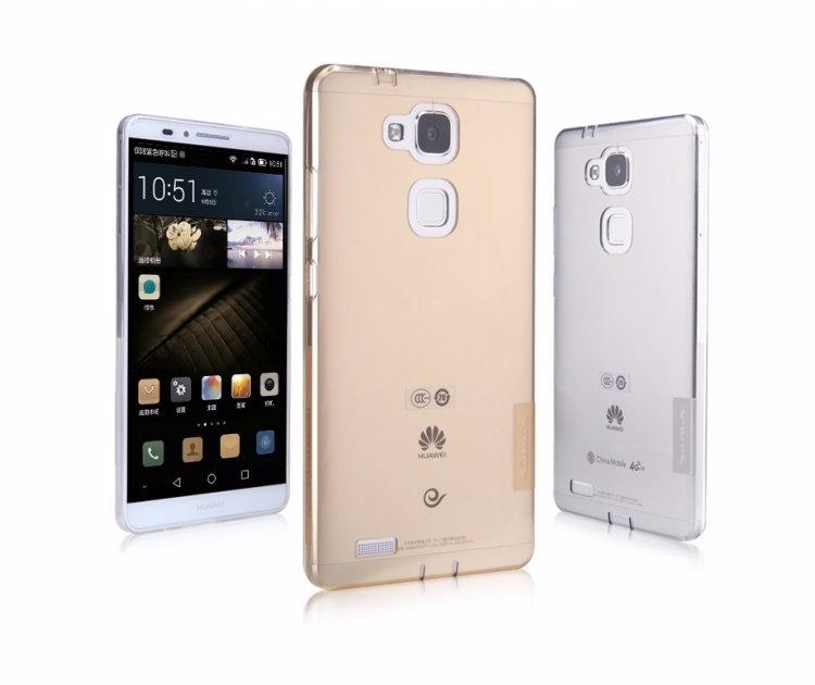 Чехол-накладка Nillkin Nature 0.6mm для Huawei Ascend Mate7 силиконовый прозрачно-черныйдля Huawei<br>Чехол-накладка Nillkin Nature 0.6mm для Huawei Ascend Mate7 силиконовый прозрачно-черный<br>
