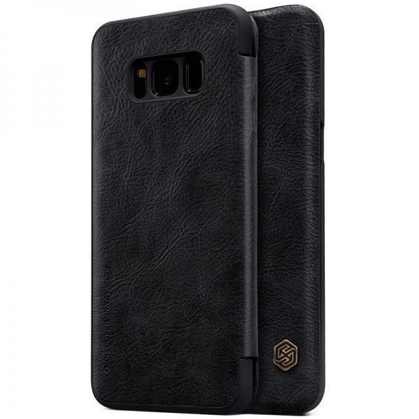 Чехол-книжка Nillkin QIN Leather Case для Samsung Galaxy S8+ (SM-G955) натуральная кожа (черный)