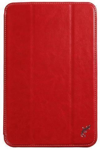 Чехол-книжка G-Case для Lenovo IdeaTab A5500\A8-50 искусственная кожа/белые нитки (красный) фото