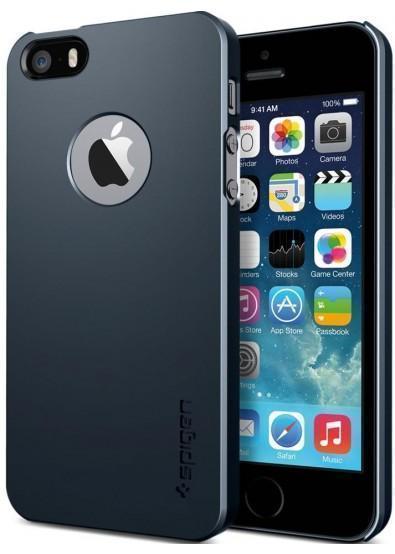 Чехол-накладка Spigen Ultra Thin Air A (SGP10501) для Apple iPhone SE/5S/5 пластиковый Metal Slateдля iPhone 5/5S/SE<br>Чехол-накладка Spigen Ultra Thin Air A (SGP10501) для Apple iPhone SE/5S/5 пластиковый Metal Slate<br>