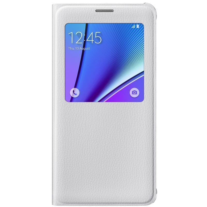Чехол-книжка Samsung S-View Cover для Galaxy Note 5 полиуретан, поликарбонат белый EF-CN920PWEGRUдля Samsung<br>Чехол-книжка Samsung S-View Cover для Galaxy Note 5 полиуретан, поликарбонат белый EF-CN920PWEGRU<br>