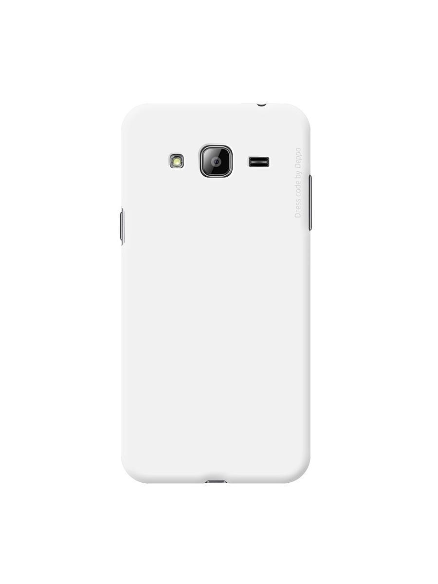 Купить Чехол-накладка Deppa Air Case для Samsung Galaxy J3 (2016) SM-J320 пластиковый (белый)