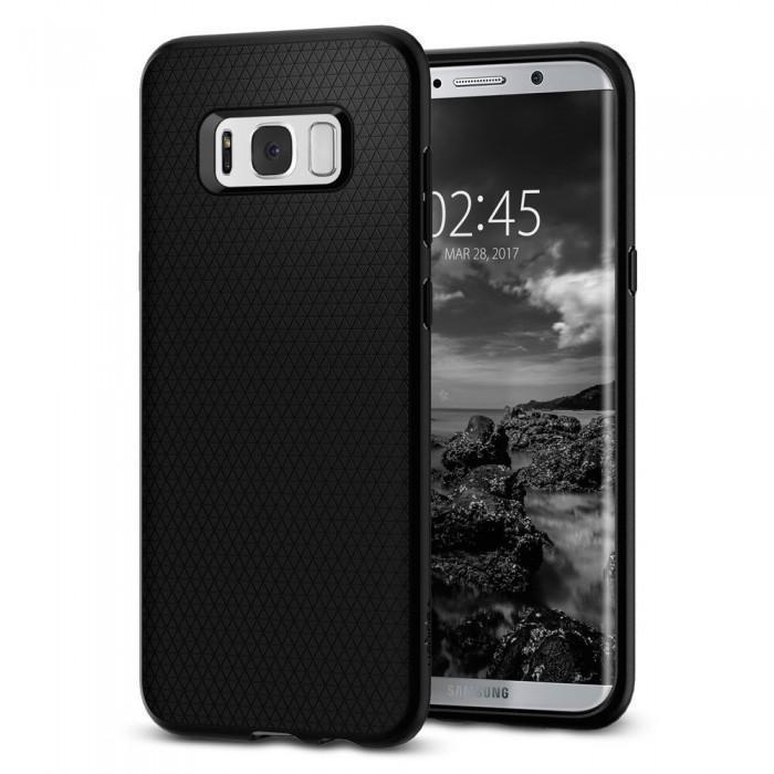 Чехол-накладка Spigen Liquid Air Armor для Samsung Galaxy S8+ черный  (SGP 571CS21663)для Samsung<br>Чехол-накладка Spigen Liquid Air Armor для Samsung Galaxy S8+ черный  (SGP 571CS21663)<br>