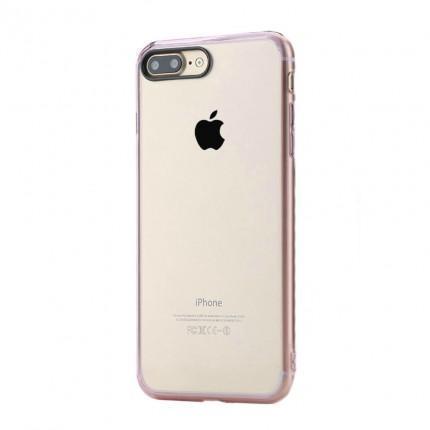 Чехол-накладка Rock Pure Series для Apple iPhone 7 Plus/8 Plus пластик-силикон прозрачно-розовыйдля iPhone 7 Plus/8 Plus<br>Чехол-накладка Rock Pure Series для Apple iPhone 7 Plus/8 Plus пластик-силикон прозрачно-розовый<br>