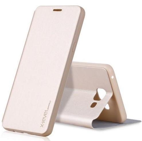 Купить Чехол-книжка Pipilu FIBcolor X-Level для Samsung Galaxy J2 (SM-J200) искусственная кожа (золотой)