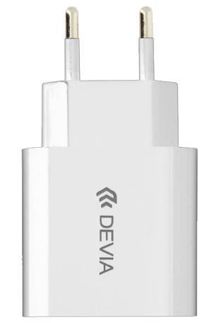 Сетевое зарядное устройство Devia Smart Charger Suit Type-C 10W 2.1A (White) (301124)