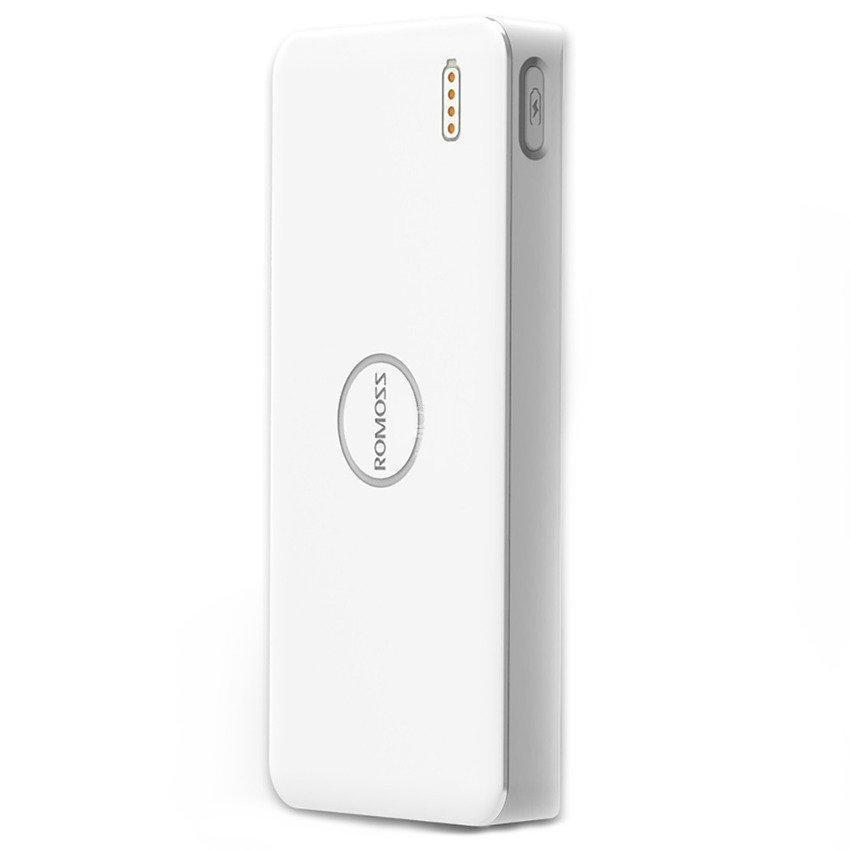 Универсальный внешний аккумулятор Romoss Polymos 10 10000 mAh, 1 А и 2.1 А, USBx2 пластик белыйUSBx2<br>Универсальный внешний аккумулятор Romoss Polymos 10 10000 mAh, 1 А и 2.1 А, USBx2 пластик белый<br>