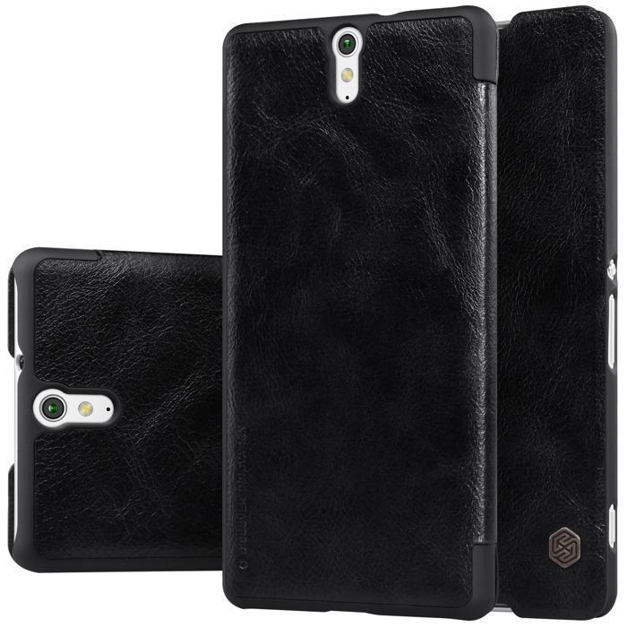 Чехол-книжка Nillkin QIN Leather Case для Sony Xperia C5 Ultra / Ultra Dual натуральная кожа черный