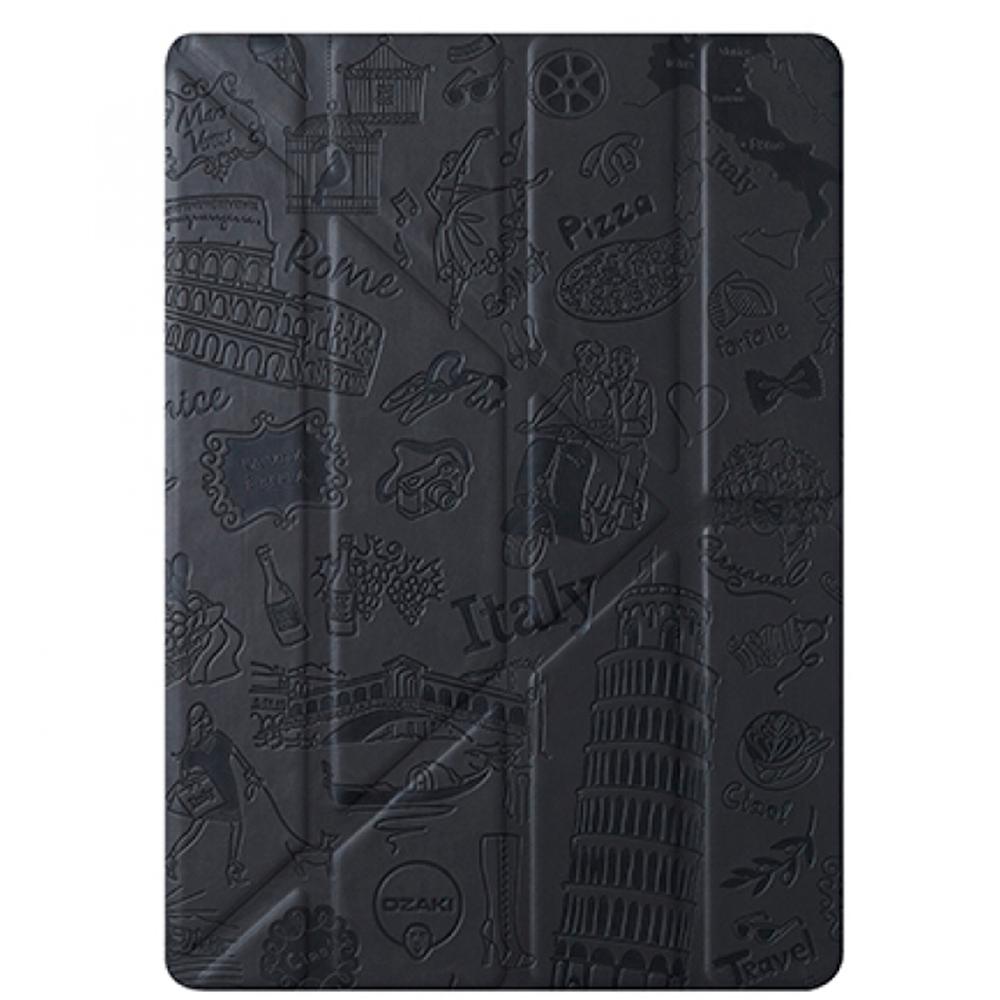 Чехол-книжка Ozaki O!coat Travel Rome для Apple iPad mini 4 (полиуретан с подставкой) черный