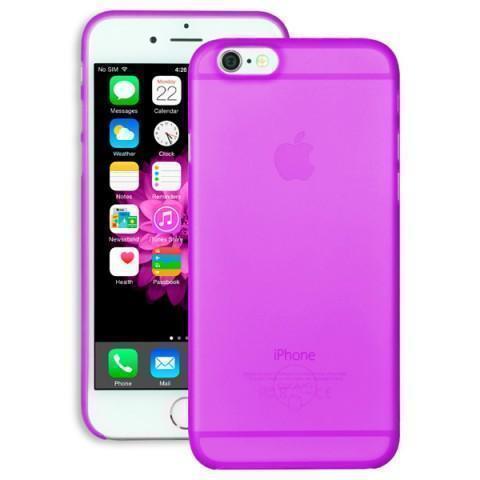 Чехол-накладка Ozaki O!coat 0.3mm Jelly для Apple iPhone 6/6S пластик фиолетовый (OC555PU)для iPhone 6/6S<br>Чехол-накладка Ozaki O!coat 0.3mm Jelly для Apple iPhone 6/6S пластик фиолетовый (OC555PU)<br>