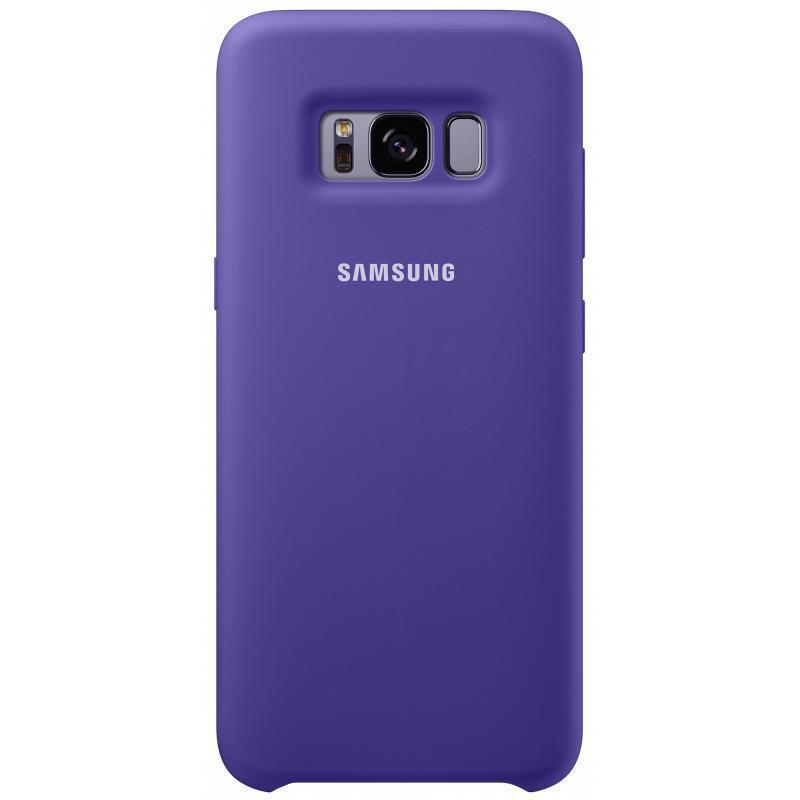 Чехол-накладка Samsung Silicone Cover для Galaxy S8 силикон фиолетовый (EF-PG950TVEGRU)для Samsung<br>Чехол-накладка Samsung Silicone Cover для Galaxy S8 силикон фиолетовый (EF-PG950TVEGRU)<br>