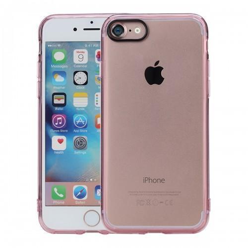 Чехол-накладка Rock Pure Series для Apple iPhone 7/8 пластик-силикон прозрачно-розовыйдля iPhone 7/8<br>Чехол-накладка Rock Pure Series для Apple iPhone 7/8 пластик-силикон прозрачно-розовый<br>