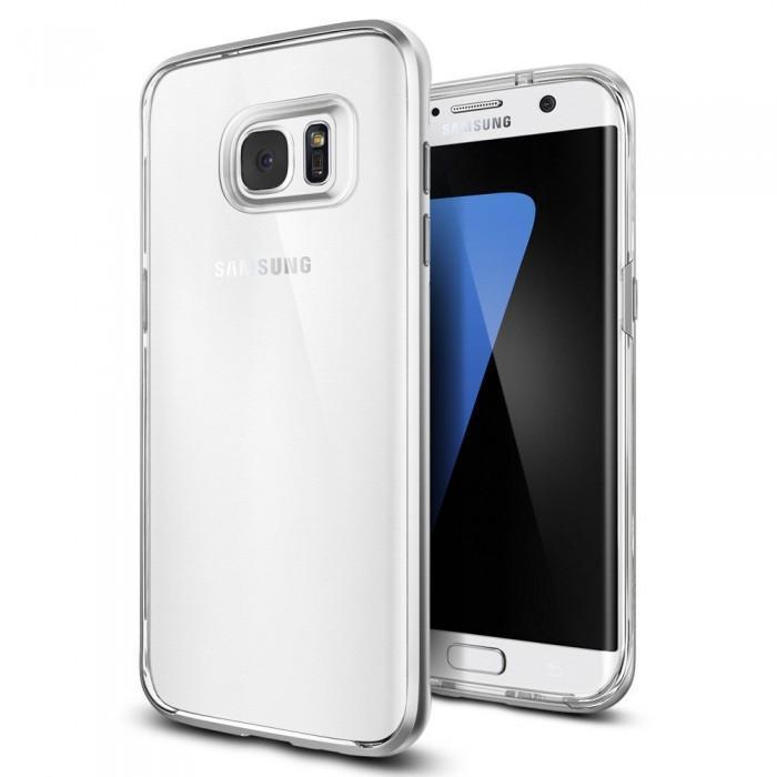 Чехол-накладка Spigen SGP 556CS20046 Neo Hybrid Crystal для Samsung Galaxy S7 Edge Satin Silverдля Samsung<br>Чехол-накладка Spigen SGP 556CS20046 Neo Hybrid Crystal для Samsung Galaxy S7 Edge Satin Silver<br>