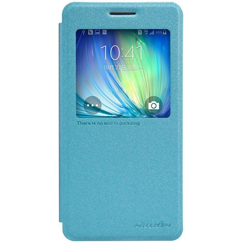 Чехол-книжка Nillkin Sparkle Series для Samsung Galaxy A5 (SM-A500) пластик-полиуретан голубойдля Samsung<br>Чехол-книжка Nillkin Sparkle Series для Samsung Galaxy A5 (SM-A500) пластик-полиуретан голубой<br>