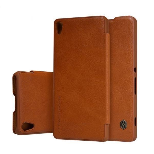 Чехол-книжка Nillkin QIN Leather Case для Sony Xperia XA / XA Dual натуральная кожа коричневыйдля Sony<br>Чехол-книжка Nillkin QIN Leather Case для Sony Xperia XA / XA Dual натуральная кожа коричневый<br>