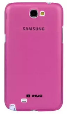 Чехол-накладка iHug Ultra-light для Samsung Galaxy Note 2 (GT-N7100 / GT-N7105) пластик (малиновый)