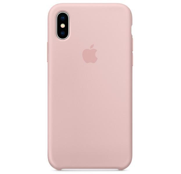 Чехол-накладка Silicone Case Series для Apple iPhone XS Max нежно-розовый