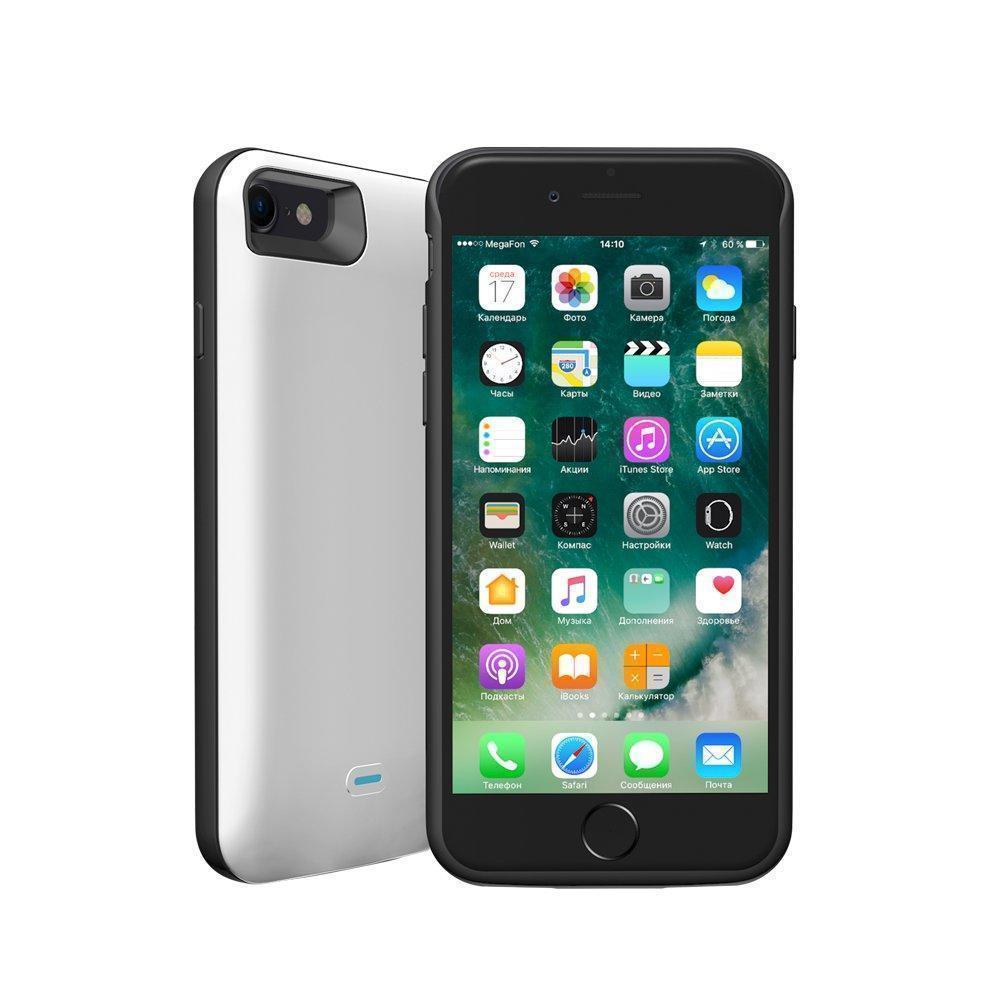 Чехол-аккумулятор Deppa NRG Case 2600mAh для iPhone 7/8 Lightning белый (33520)