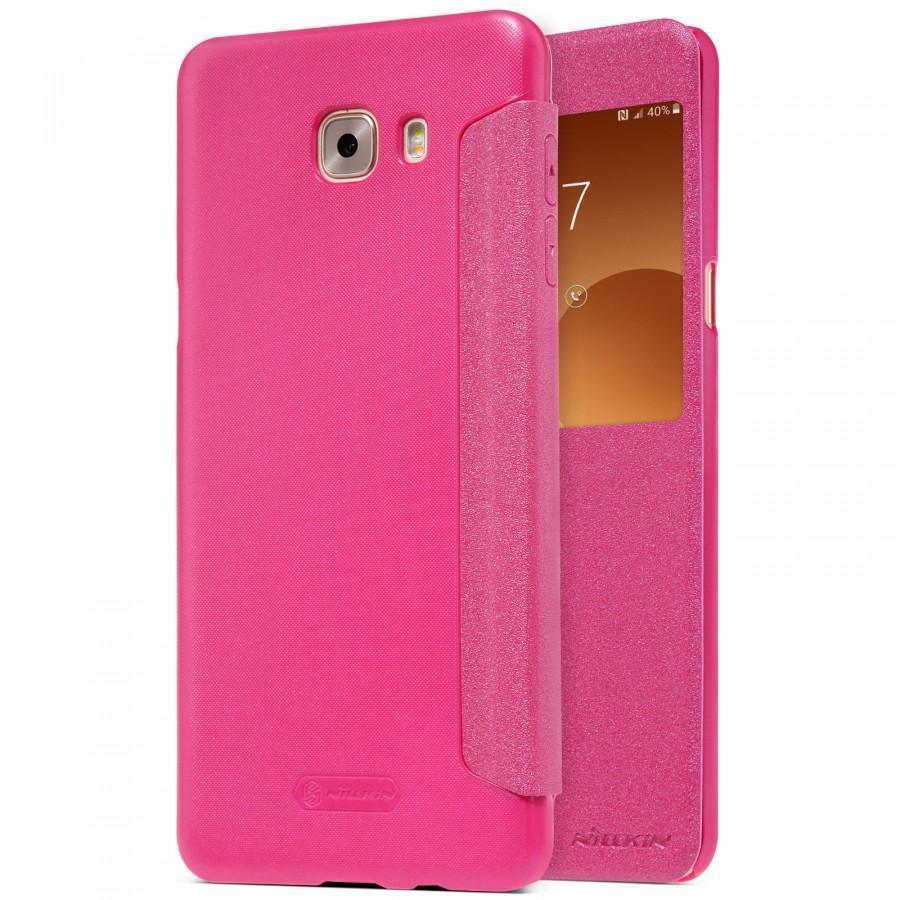 Купить Чехол-книжка Nillkin Sparkle Series для Samsung Galaxy S5 G900 пластик-полиуретан (розовый)