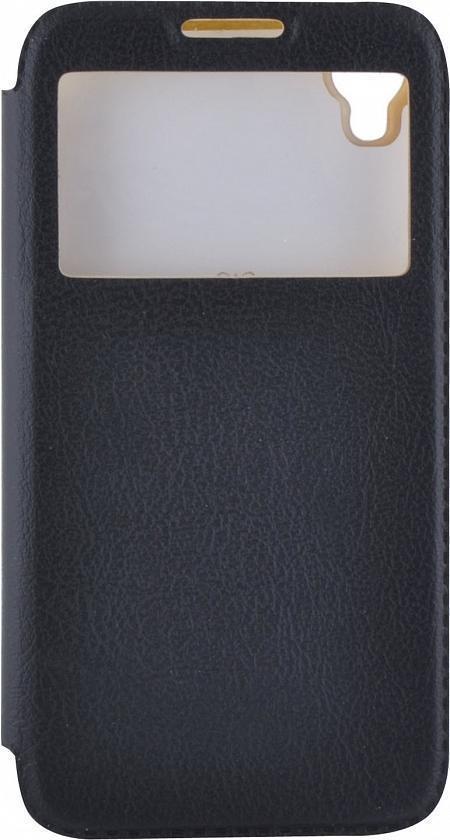 Чехол-книжка Armor Case для Alcatel Idol 3 (4.7) с окном (искусственная кожа) чёрный